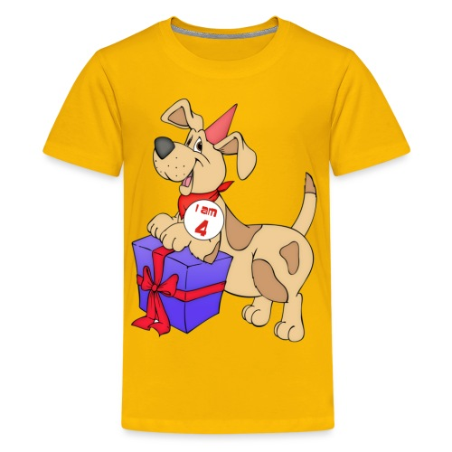 I am 4 doggy - Teenage Premium T-Shirt