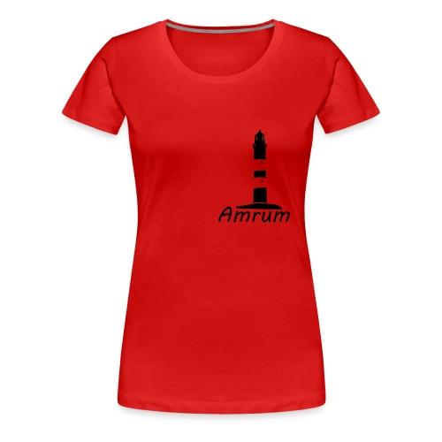 Amrumer Leuchtturm - Frauen Premium T-Shirt