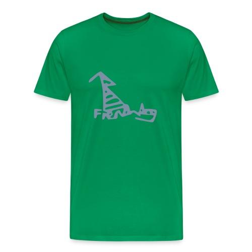 French Dog Men's Big & Tall Shirt - Men's Premium T-Shirt