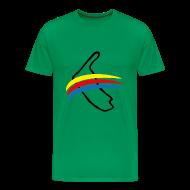 T-Shirts ~ Männer Premium T-Shirt ~ Amrum mit Fahne