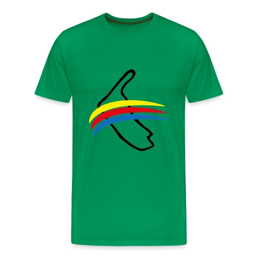Amrum mit Fahne - Männer Premium T-Shirt