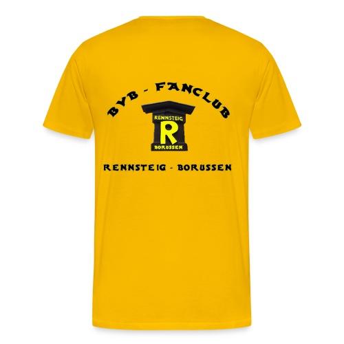 T-Shirt Mann Gelb Druck Hinten - Männer Premium T-Shirt