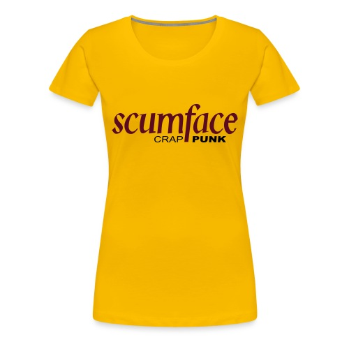 Scumface Buckfast Girlie T-Shirt (Yellow)  - Women's Premium T-Shirt
