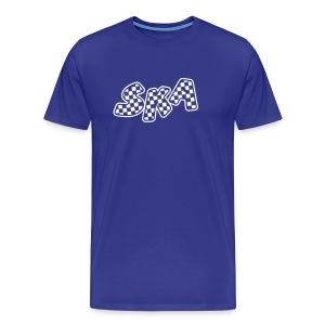 blaues Skashirt mit Karos - Männer Premium T-Shirt