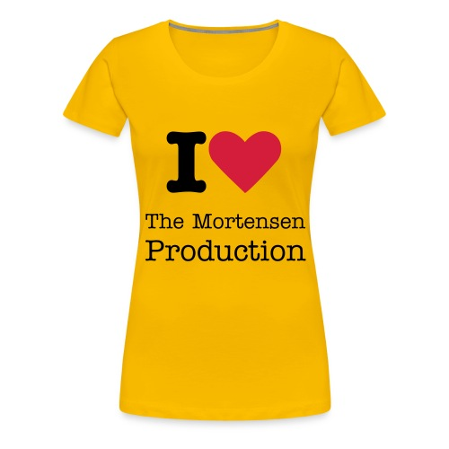 I Love The Mortensen Production T-Shirt - Dame premium T-shirt