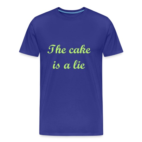 The cake is a lie - Men's Premium T-Shirt
