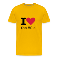 T-shirts ~ Mannen Premium T-shirt ~ I Love the 80's Shirt