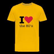 T-shirts ~ Mannen Premium T-shirt ~ I Love the 80's Shirt