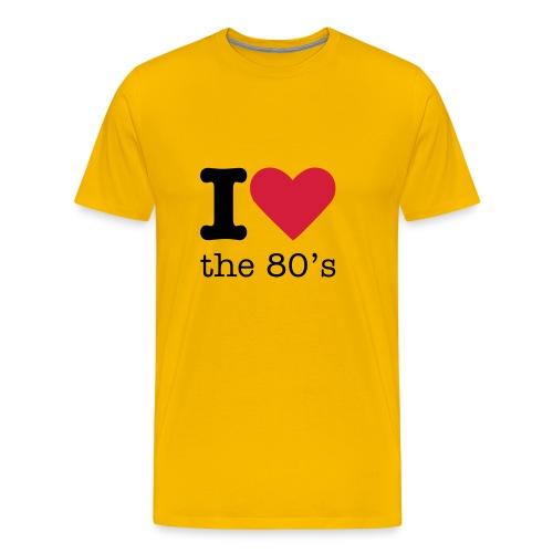 I Love the 80's Shirt - Mannen Premium T-shirt