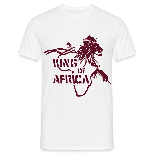 King of Afrika - Männer T-Shirt