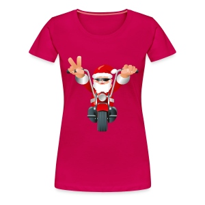 Biker Christmas (ladies) - Women's Premium T-Shirt