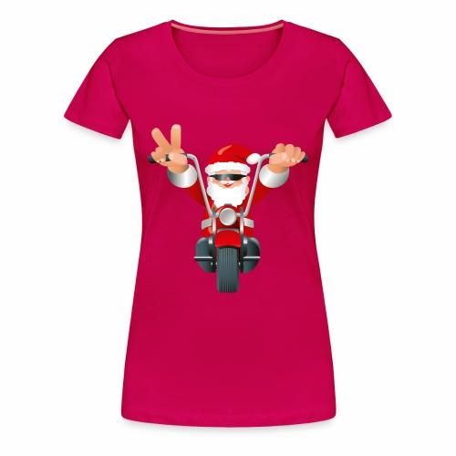 Biker Christmas (ladies) - Women's Premium T-Shirt
