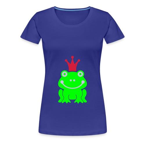 Maglietta Premium da donna - sole,salute,rana,estate,corona,animali,amici