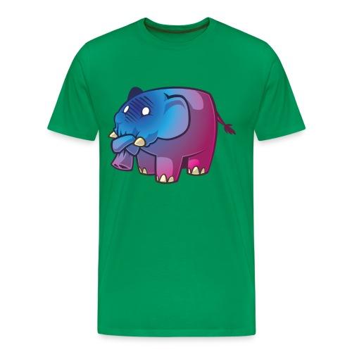 Rosa Elefanten - Männer Premium T-Shirt