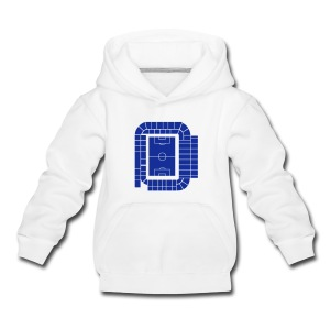 ELLAND ROAD - ACTUAL STADIUM PLAN - Kids' Premium Hoodie