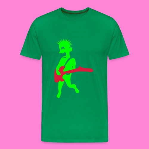 Kay good guitar green - Mannen Premium T-shirt