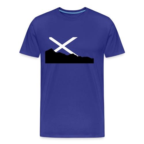 Scottish Mountain Flag - Men's Premium T-Shirt