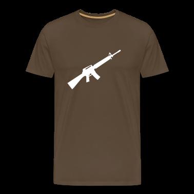 M16 M4 geweer pistool wapen machine T-shirts