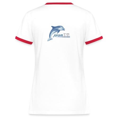 Maglia Donna Disegno posteriore - Maglietta Contrast da donna