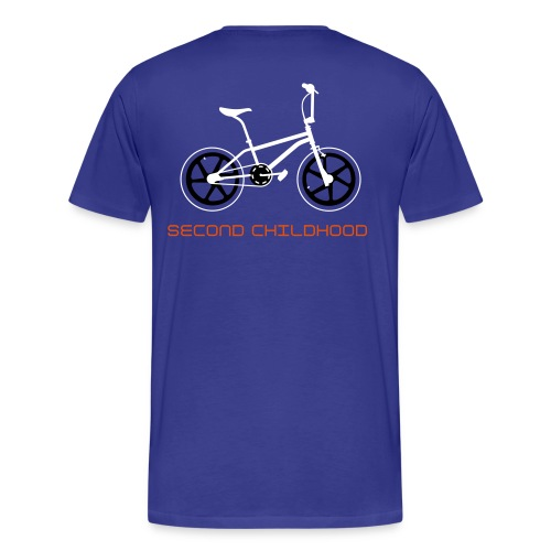 SECOND CHILDHOOD BMX (front & back print) - Men's Premium T-Shirt