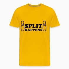 Yellow Bowling - Split happens Men's T-Shirts