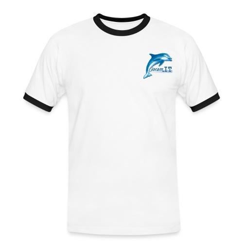 Maglia staff con nuovo logo e miniscritta - Maglietta Contrast da uomo
