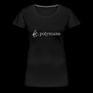 T-Shirts ~ Women's Premium T-Shirt ~ polymake women's t-shirt (outlined logo)