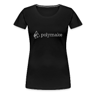 T-Shirts ~ Women's Premium T-Shirt ~ polymake women's t-shirt (outlined logo)