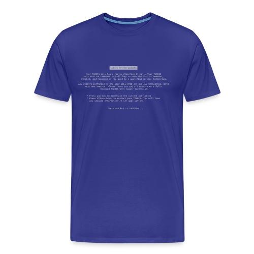 TARDIS BSOD - Men's Premium T-Shirt