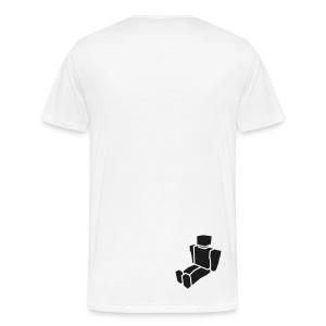 Big Fish - Men's Big N' Tall White T-Shirt - Men's Premium T-Shirt