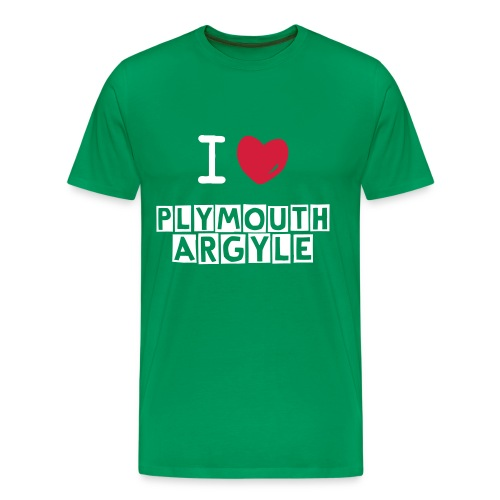 I Love Plymouth Argyle - Plymouth Argyle T-Shirt - Men's Premium T-Shirt
