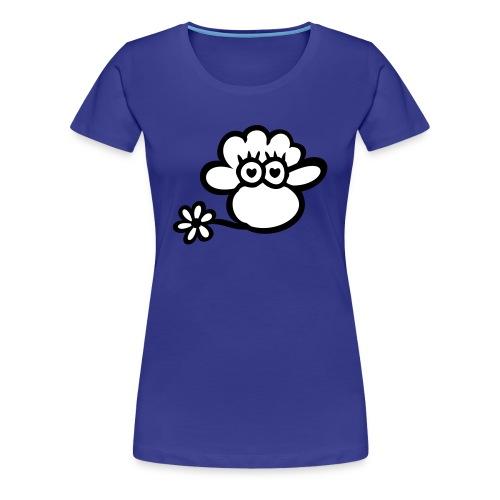 Girl Flower Sheep T-Shirt - Frauen Premium T-Shirt