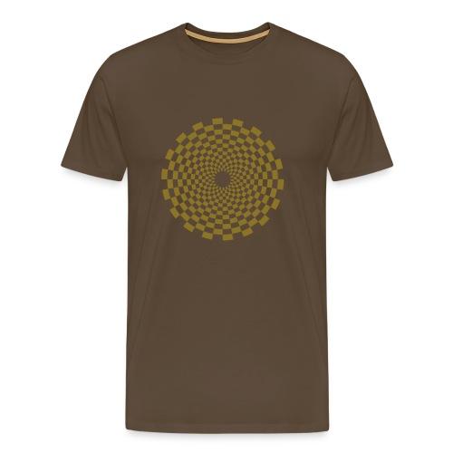 Psychedelic Circle (matte gold) - Männer Basis T-Shirt - Männer Premium T-Shirt