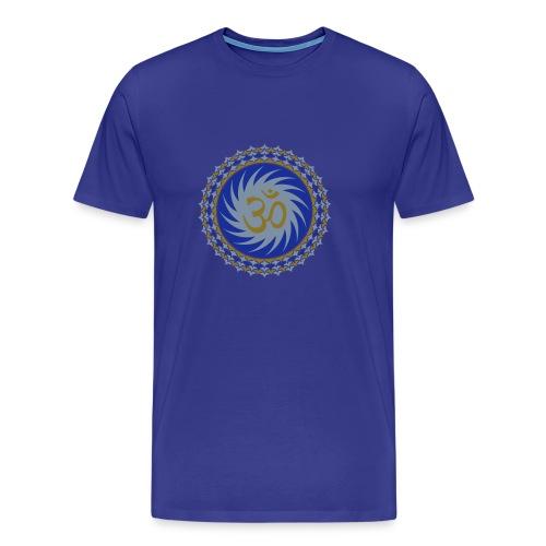 OM Lotus (blue/matte-gold/matte-silver) - Männer Premium T-Shirt