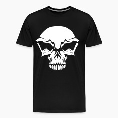 Black totenkopf skull pirat Men's T-Shirts