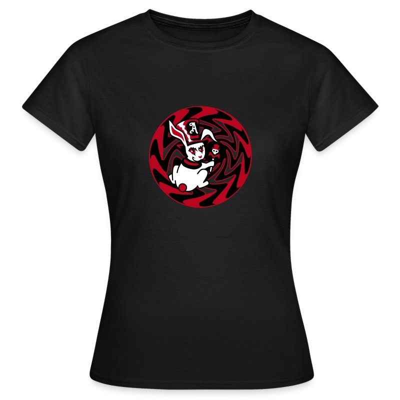 Rabbit Hole-Red - Women's T-Shirt