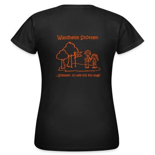 Frauen Girlieshirt braun - Frauen T-Shirt