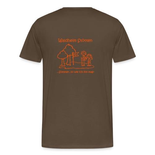 T-Shirt normal braun - Männer Premium T-Shirt
