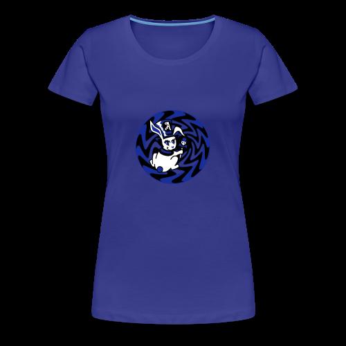 Rabbit Hole-Blue - Women's Premium T-Shirt