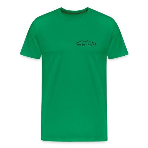 T-shirt classic MC Kaki 2 logos black - T-shirt Premium Homme