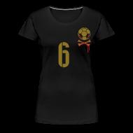 T-Shirts ~ Frauen Premium T-Shirt ~ SETZEN 6 (CL-HOME) Gold/red