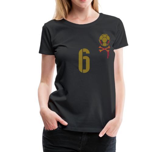 SETZEN 6 (CL-HOME) Gold/red - Frauen Premium T-Shirt