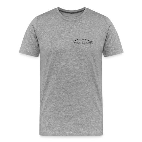 T-shirt classic MC Blanc-gris 2 logos black - T-shirt Premium Homme