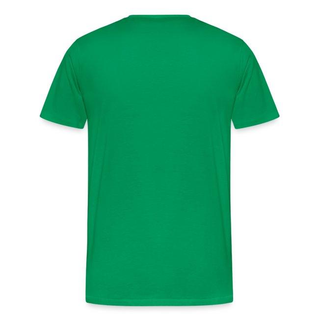 Ihminen paljaana, teksti paidassa
