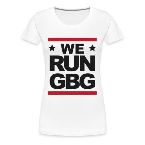 We run(dmc) GBG - svart tryck - Premium-T-shirt dam