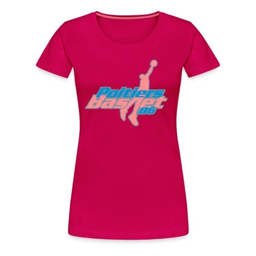 Poitiers Basket 86 (PB86) - T-shirt Premium Femme