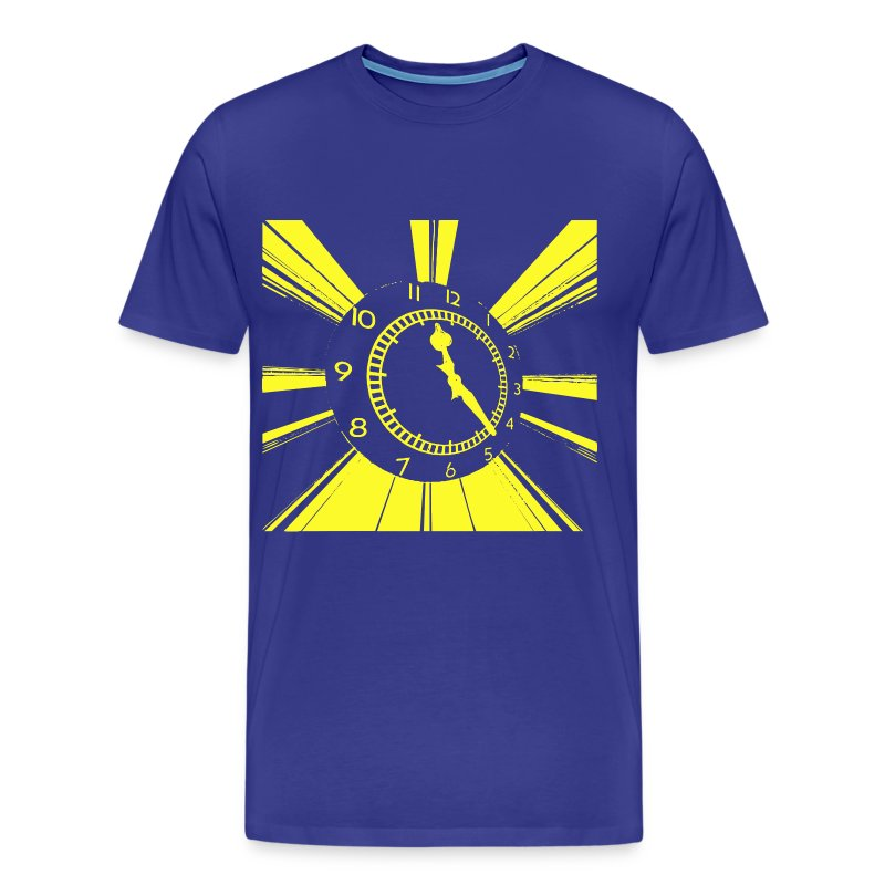 clock_yelllow - Men's Premium T-Shirt