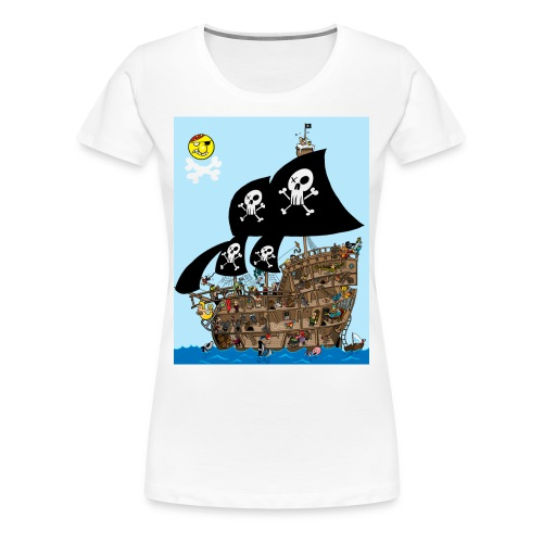 pirate ship maze - Women's Premium T-Shirt