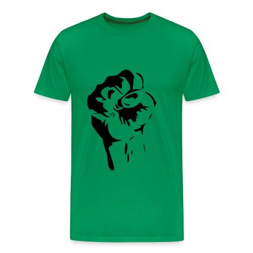 faust schwarz auf kaki - Männer Premium T-Shirt