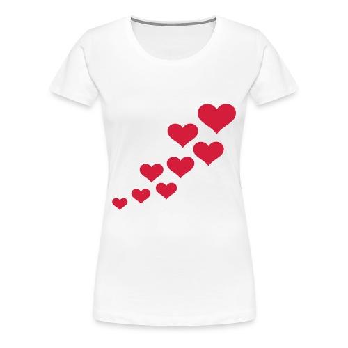 Maglietta Premium da donna - cuoricini
